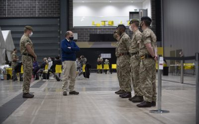 The Defence Secretary Visits Armed Forces Personnel On Deployment To Liverpool Today