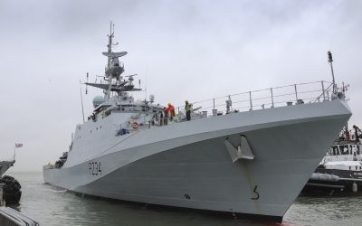 A Debut Home Appearance For HMS Spey