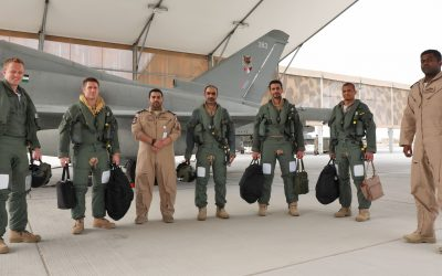 RAF And Qatari Pilots Operate For The First Time As A Joint Squadron In Qatar