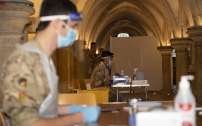 Sappers Provide COVID Testing At Rochester Cathedral