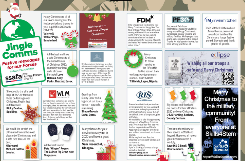 Jingle Comms 2020 – Messages Of Support For Our Troops