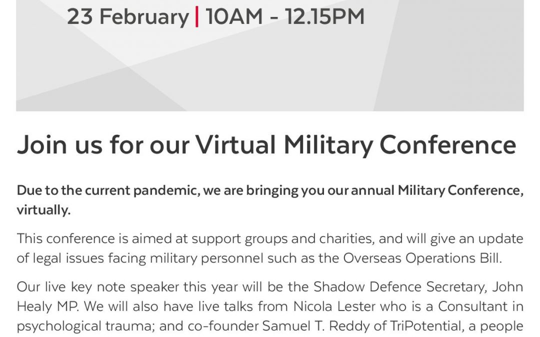 Join Hugh James For Their Virtual Military Conference
