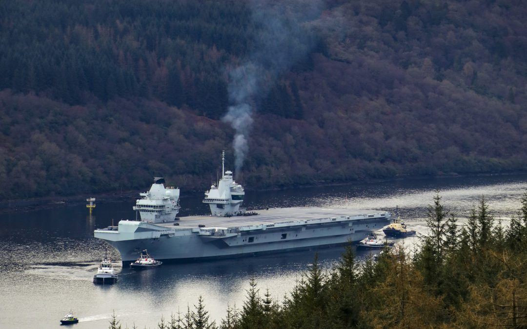 HMS Queen Elizabeth Visits Western Scotland For The First Time