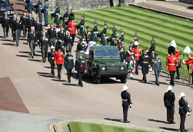 The Funeral Procession And Funeral Service Of His Royal Highness The Duke Of Edinburgh Takes Place At Windsor Castle