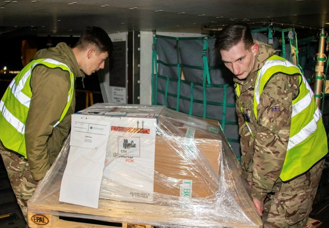 Royal Navy And RAF Combine Efforts To Deliver Vaccines To World's Most Remote Overseas Territory