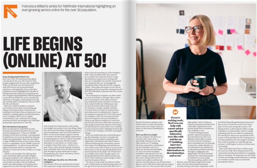Life Begins (Online) At 50 – The Story Of Rest Less The UK's Fastest Growing Digital Community For The Over 50's