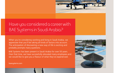 Have You Considered A Career With BAE Systems In Saudi Arabia?
