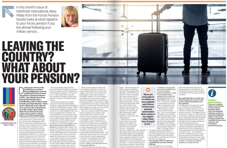 What Happens To My Armed Forces Pension If I Move Abroad?