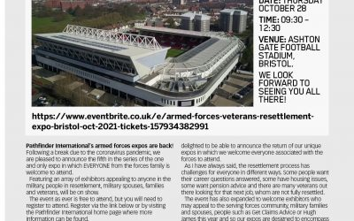 The Armed Forces & Veterans Resettlement Expo Bristol In Association With Get Claims Advice Is Launched
