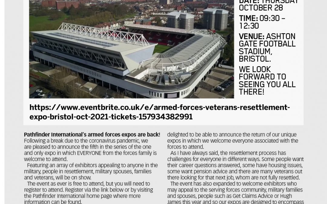 The Armed Forces & Veterans Resettlement Expo Bristol – Exhibitor Update