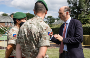 Defence Minister Visits Military Families Benefitting From Newly Refurbished Homes At Catterick