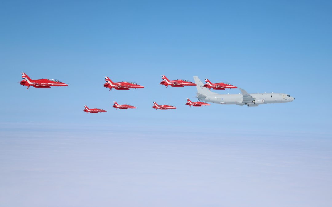 Poseidon MRA1 (P-8A) With The Red Arrows For The First Time