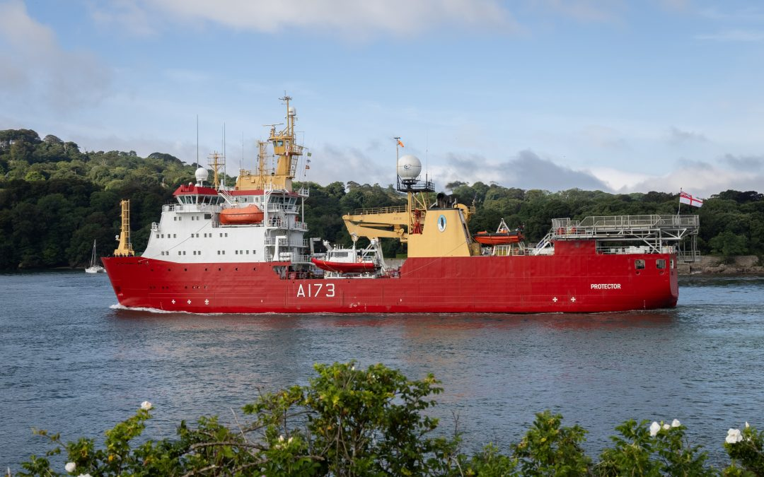 HMS Protector Sails For 'New Adventures' In Antarctica