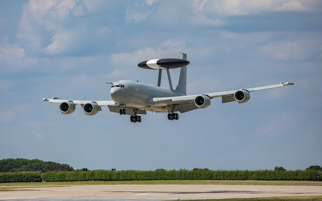RAF E-3D Sentry Aircraft Returns To The UK From Last Operational Mission