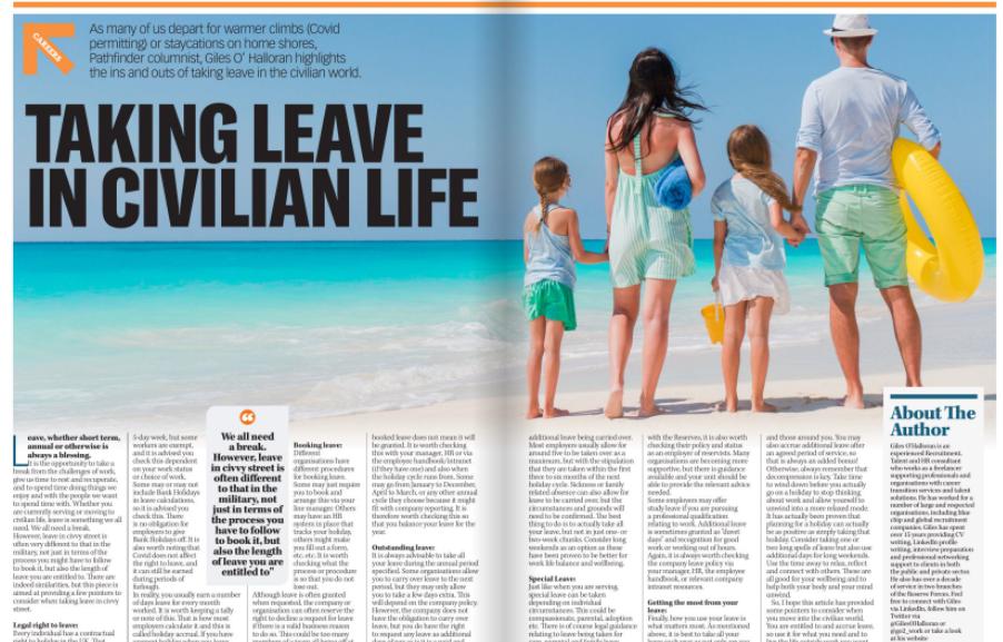 Careers Advice: Taking Leave In Civilian Life