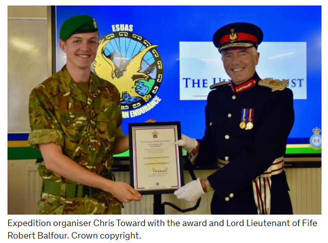Prince Of Wales' Award For  East Of Scotland Universities Air Squadron (ESUAS)